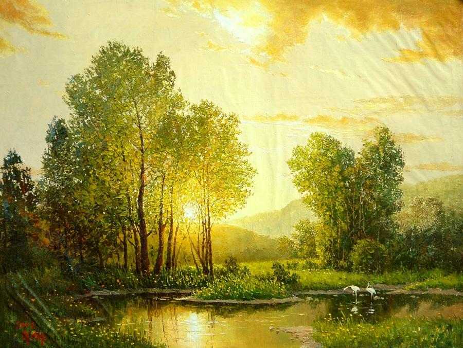 Пейзажи корейского художника…