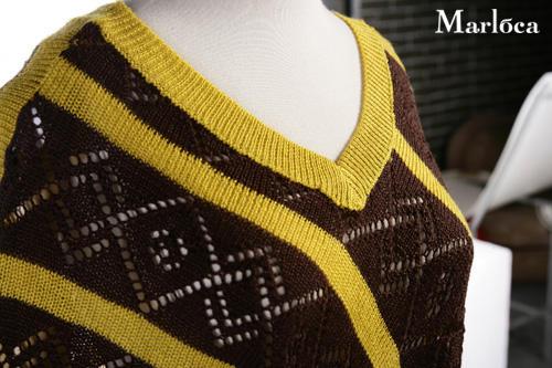 Сногсшибательный летний свитер Диагональ