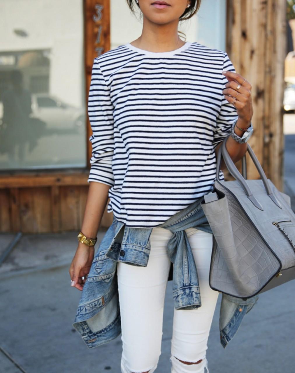 С чем носить белые джинсы: в…