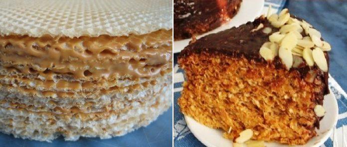 Сегодня готовим любимый вафельный торт со сгущенкой и шоколадом. Как в детстве!