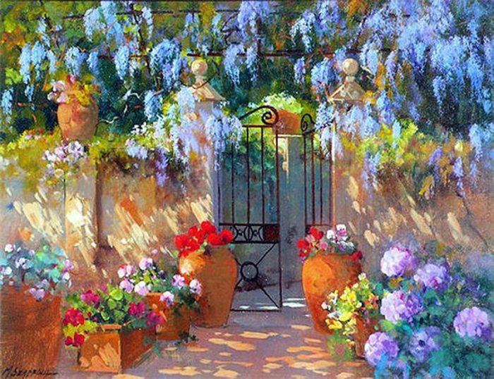 Художник MARIA SERAFINA. Цветущие сады