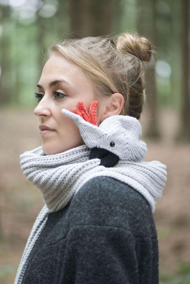 Самые креативные шарфики — много весёлых затей
