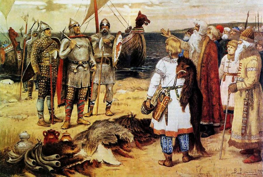 21 сентября 862 года — легендарное призвание на княжение Рюрика, Синеуса и Трувора