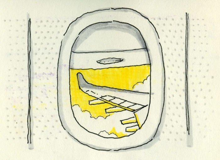 Крыло самолёта Любовь, история, комикс, любовь на расстоянии, рисунки, романтика, творчество, художник