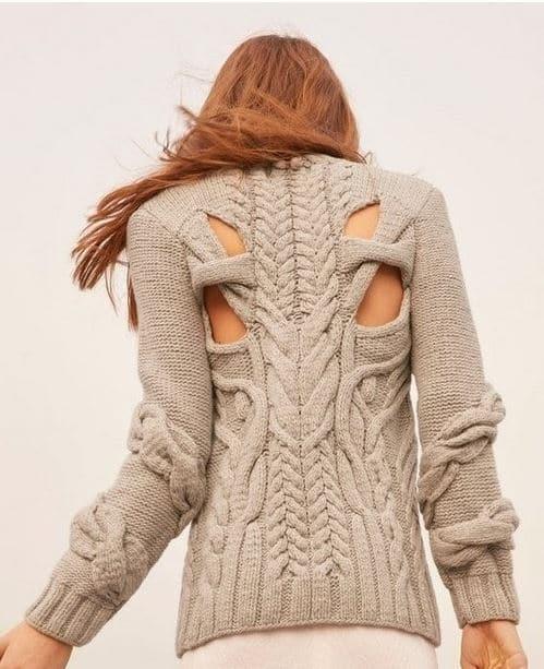Модные вязаные спицами вещи