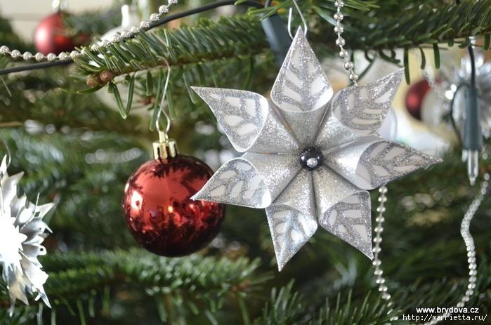 Рождественские звездочки из бумаги!