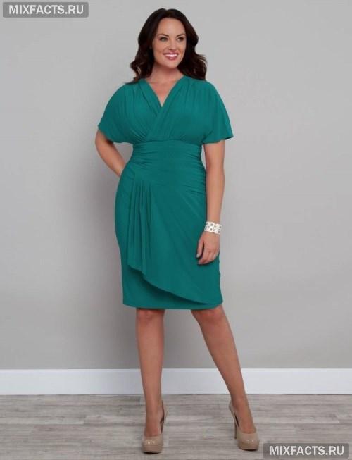 Платья для полных женщин с широкими плечами