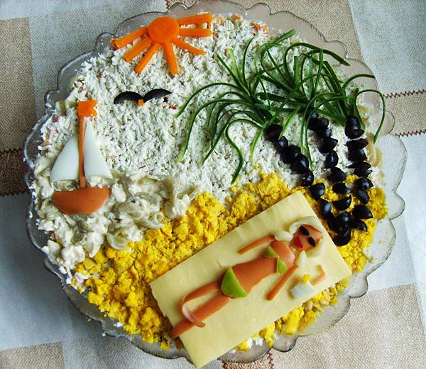 Прикольные салаты на день рождения