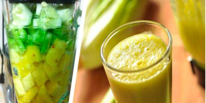 Что произойдет, если вы выпиваете сельдереево-ананасовый сок каждый день!!!