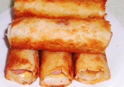 Сосиски в картофельно-сырной