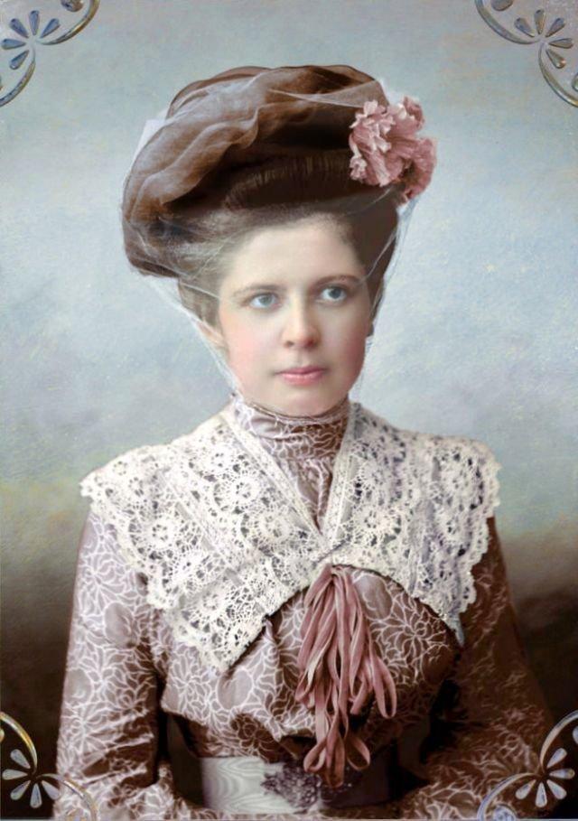 Модная дама из Кашина (Тверская область, Россия), 1900-е архив, женщины, история, красота, россия, фото