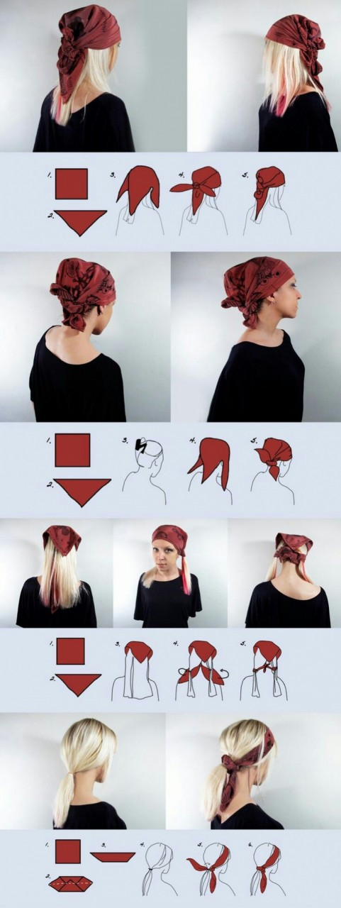 Новые способы повязать голову платком