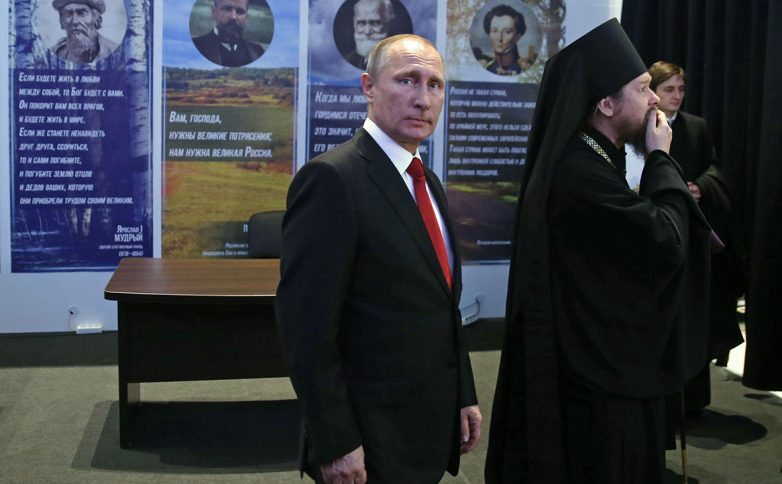 Путина выдвинут в президенты на выставке, организованной епископом Тихоном