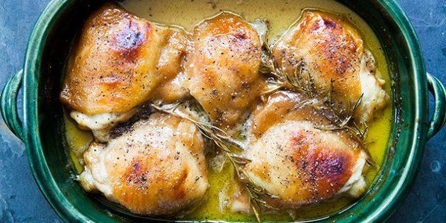 Как приготовить курицу в духовке: Куриные бёдрышки в горчично-медовом соусе