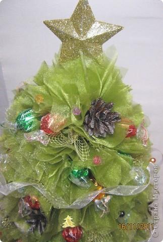Мастер-класс, Свит-дизайн: МК елочки из конфет Новый год. Фото 35