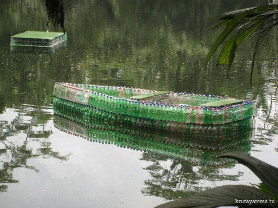лодка из пластиковых бутылок своими руками пошагово для начинающих