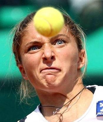 Прикольные лица теннисистов