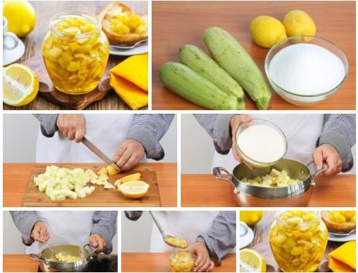 Необычное и очень вкусное варенье из кабачков с лимоном