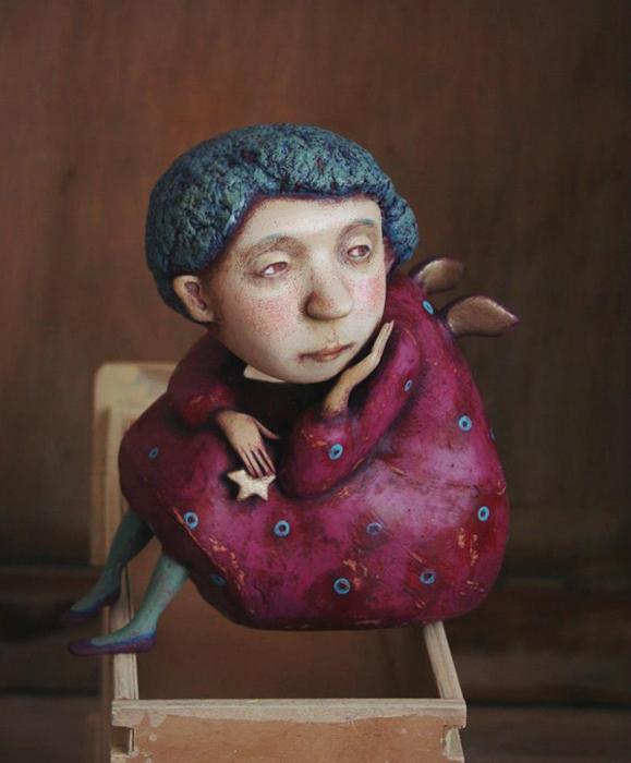Ангелок. Авторские куклы Марины Глебовой.