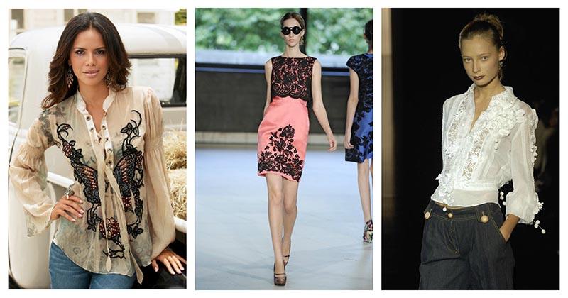 Кружевной декор одежды — что может быть изящнее? 18 новых идей