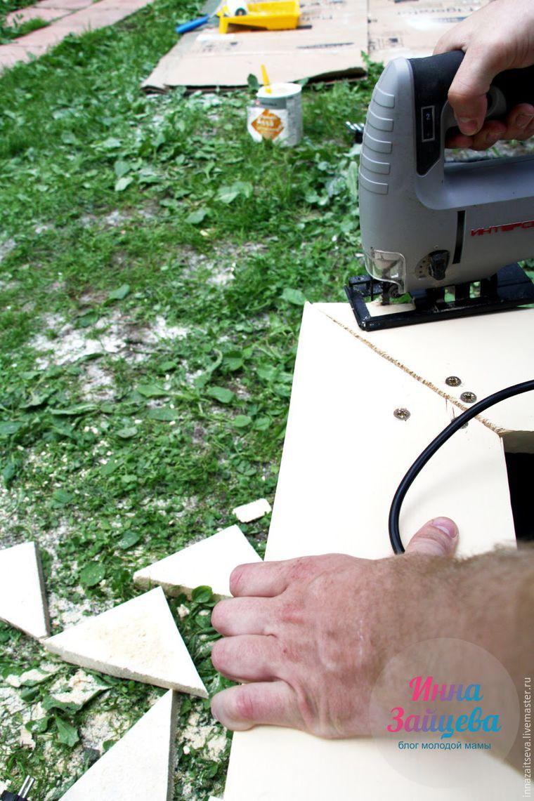 Мастерим детскую деревянную песочницу в морском стиле