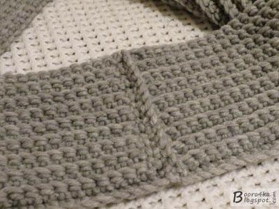 Необычный и простой шарф-снуд крючком за 2,5 часа