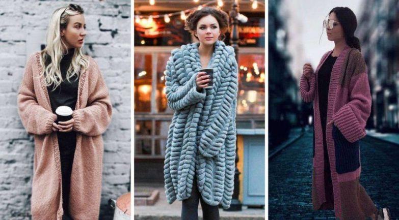 Модные вязаные кардиганы — женские штучки для прохладной осени