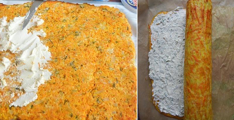 рулет морковный закуска