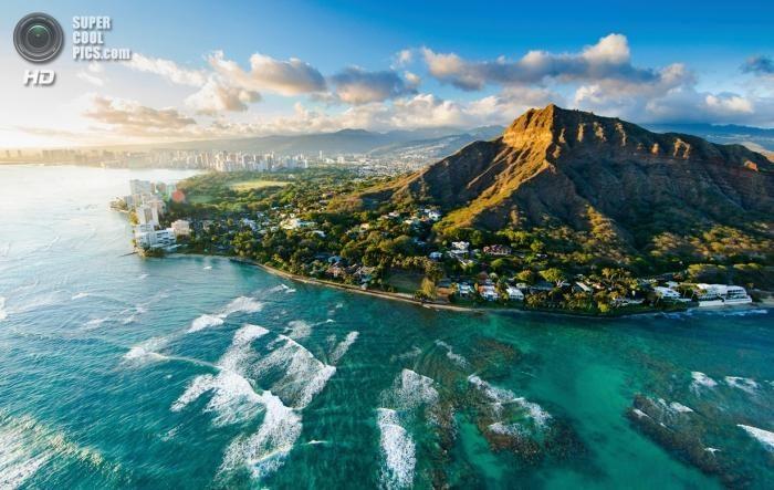 Захватывающие виды Гавайев с высоты птичьего полёта