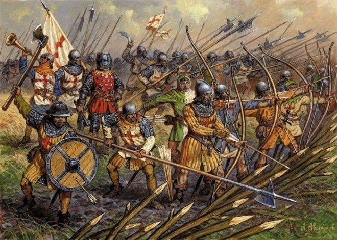 Английские солдаты периода Столетней войны Фото youtubecom