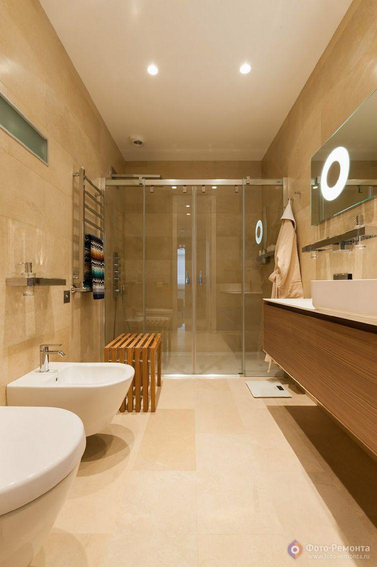 Стильные ванные комнаты 4 квм дизайн