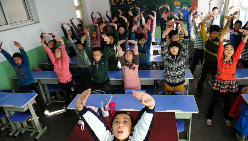 В Китае новая система не дает отвлекаться школьникам