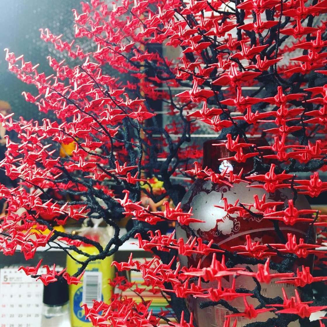Необычные деревья-бонсай из оригами