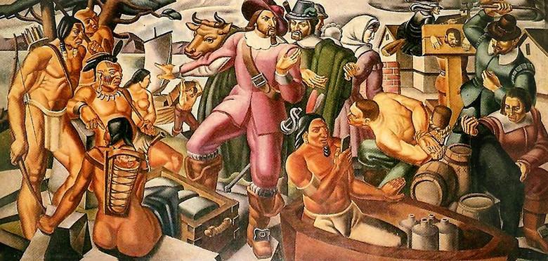 Откуда на картине с индейцами, написанной в 1937 году, современный смартфон
