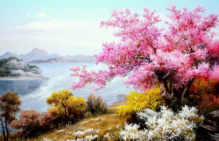 Волшебные пейзажи корейского художника Kang Jung Ho.