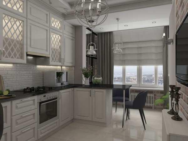 Интерьер кухни с балконом: и…