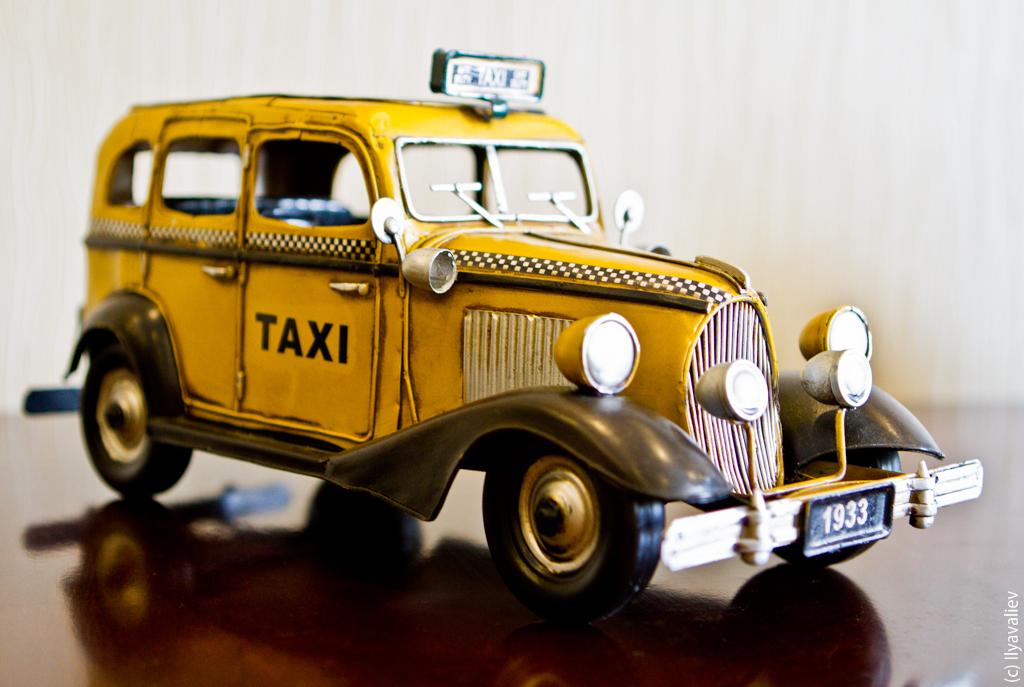 Уютное старинное такси