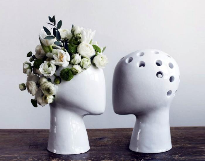 Цветочная ваза из керамики.