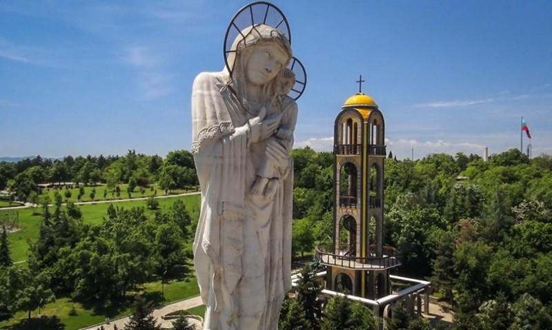 4. Монумент Пресвятой Богородицы (Хасково) - высота 32,8 м болгария, достопримечательности, курорты, памятка туристу, путешествия, туризм
