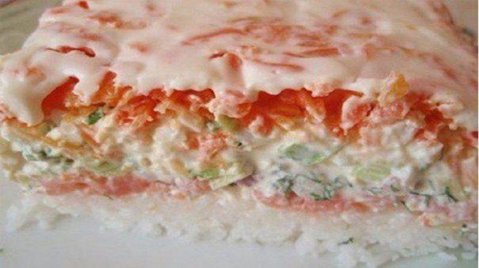 """Салат """"Суши"""". Для каждой хозяйки это салат станет удивительной находкой"""