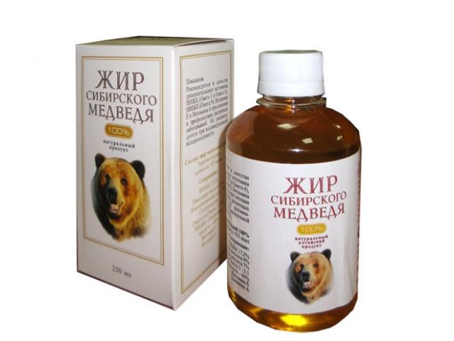 Состав и лечение медвежьим жиром