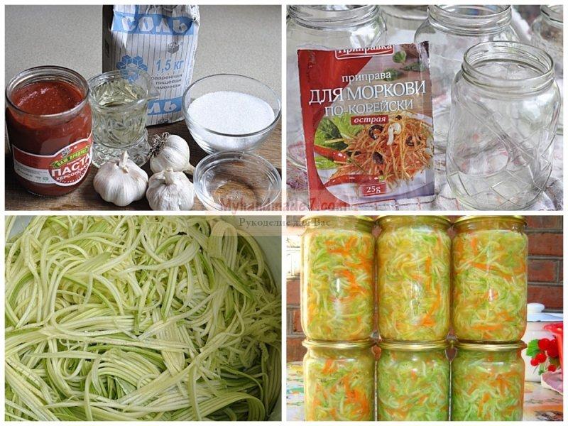 Кабачки по-корейски: подробные рецепты с фото