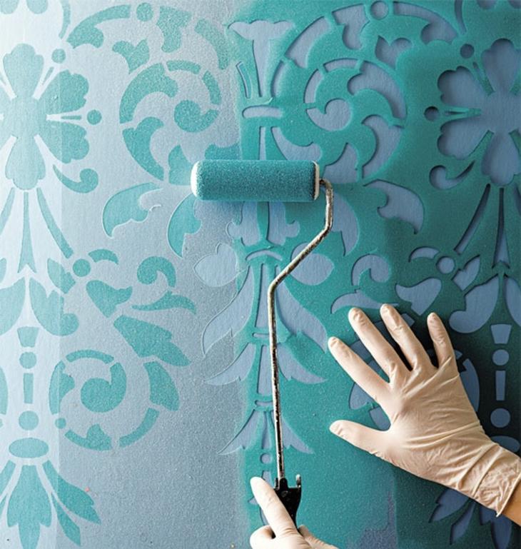 Как своими руками сделать трафарет для стен