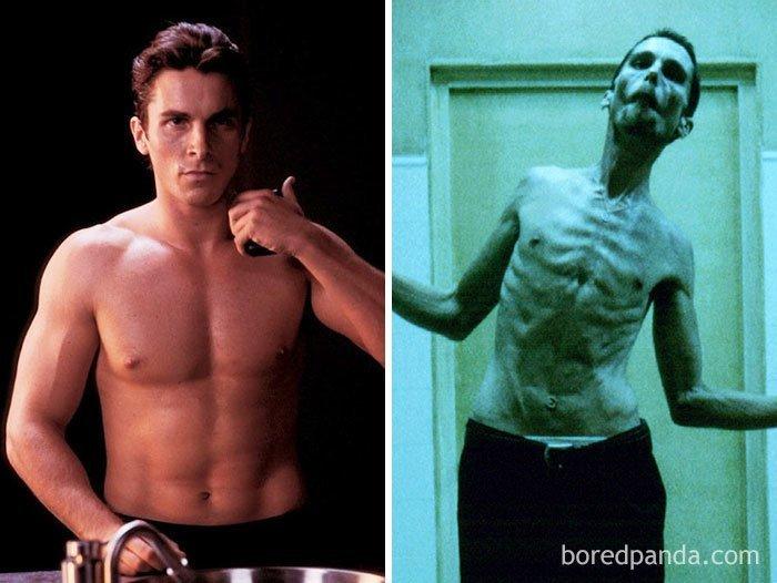 """Кристиан Бейл, """"Машинист"""" актеры, до и после, интересное, кино, подборка, роли, роли актёров, фильмы"""
