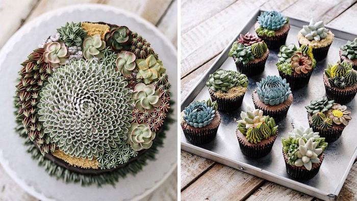 Съешь свой кактус: очаровательные торты, которые выглядят как настоящие суккуленты