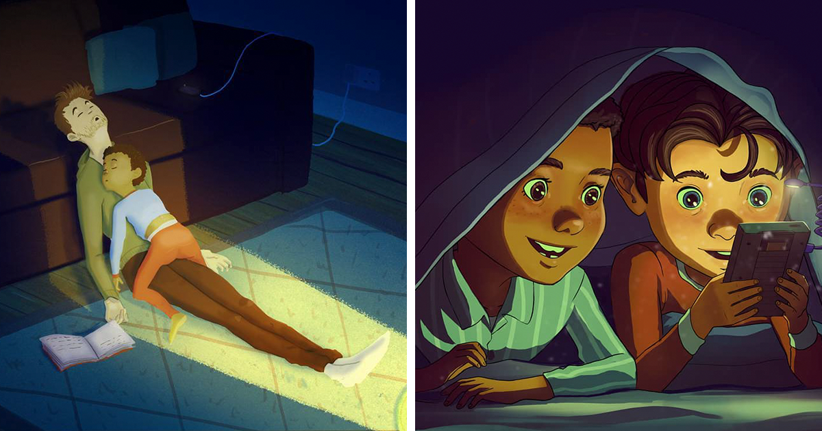 This Artist Illustrates His Sweet Childhood So Well, It May Move You To Tears