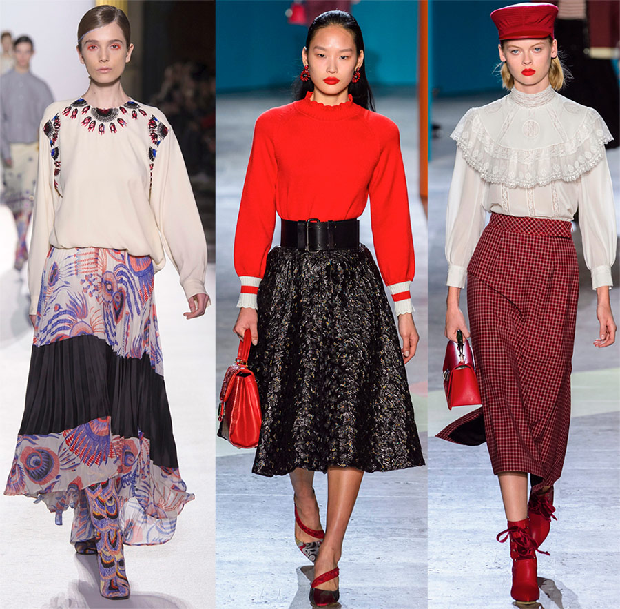 Модные образы с юбками