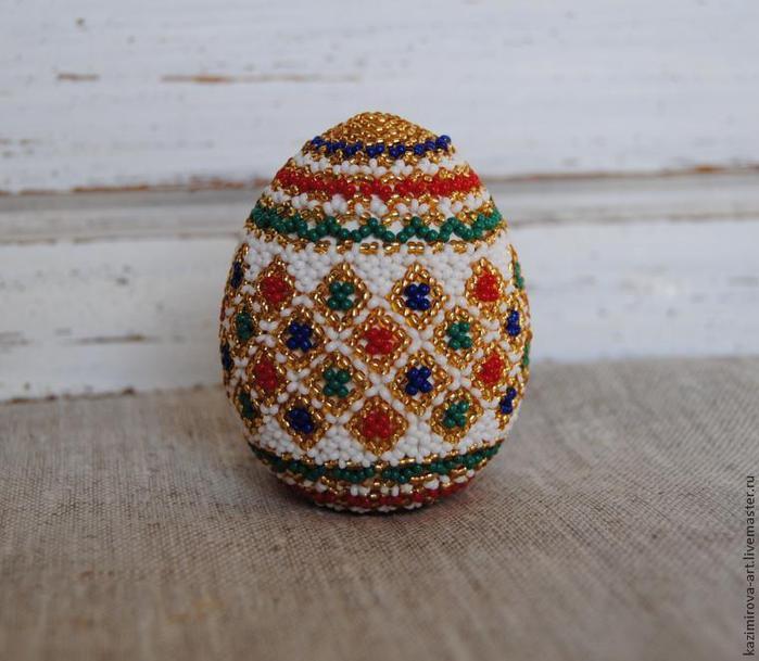 Бисерное яйцо. Схема плетения и мастер-класс