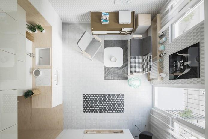 Проект малогабаритной квартиры-студии 20 кв. м.