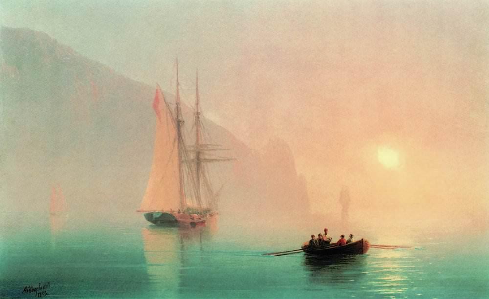 Закаты и рассветы в картинах Айвазовского,ч.1